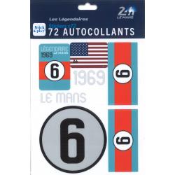 Autocollants 24H Le Mans 1969