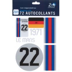 Autocollants 24H Le Mans 1971