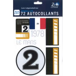 Autocollants 24H Le Mans 1978