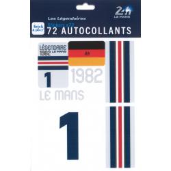 Autocollants 24H Le Mans 1982