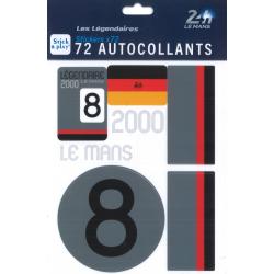 Autocollants 24H Le Mans 2000