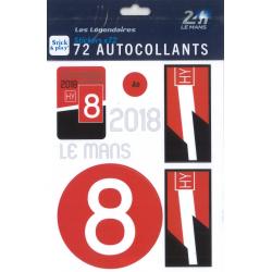 Autocollants 24H Le Mans 2018