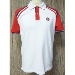 Polo Delahaye blanc-rouge