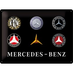 Plaque tôle Mercedes logos