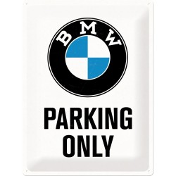 Plaque tôle Paking BMW only