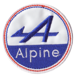 Ecusson Sixties Alpine Rond