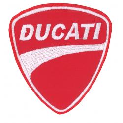 Ecusson Ducati rouge blanc