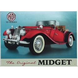 Plaque tôle MG Midget