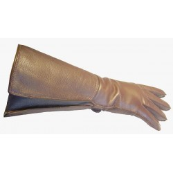 Gants long Rallye marron