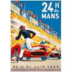 Plaque tôle 24 H Le Mans 1959