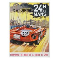 Plaque tôle 24 H Le Mans 1961