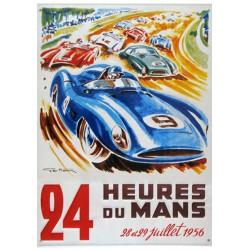 Plaque tôle 24 H Le Mans 1956