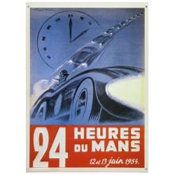 Plaque tôle 24 H Le Mans 1954