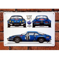 PLAQUE TOLE ALPINE A 110