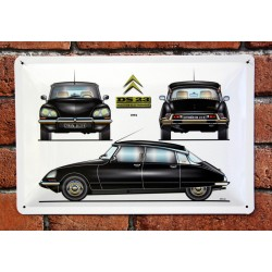PLAQUE TOLE CITROEN DS 23