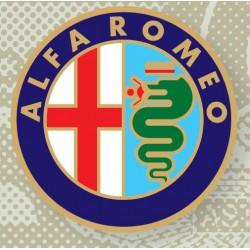 Plaque émaillée Alfa Roméo...