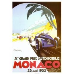 Affiche GP Monaco 1933...