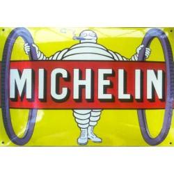 Plaque émaillée Michelin...