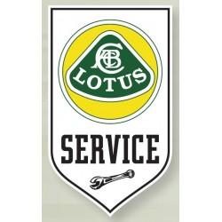Plaque Emaillée Lotus Service