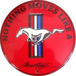 Plaque émaillée Mustang...