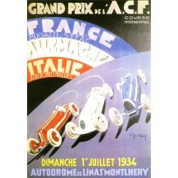 Carte postale GP de France...
