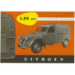 Carte postale Citroën 2CV...
