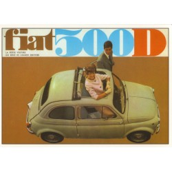 Carte postale FIAT 500...
