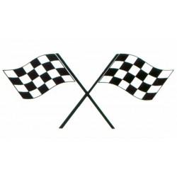 Autocollant drapeau DAMIER