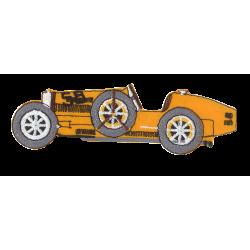 Ecusson Voiture Bugatti Jaune