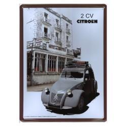 Plaque tôle Citroën 2 CV