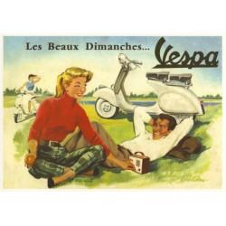 Carte postale VESPA 1955