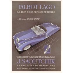 Carte postale Talbot Lago