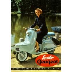 Carte postale Scooter Peugeot