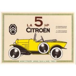 Carte postale Citroën 5CV