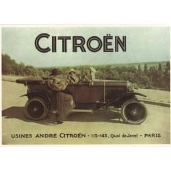 Carte postale Citroën