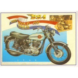 Carte postale BSA Gold Star...