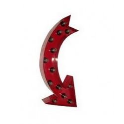Flèche métal courbée rouge...