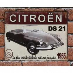 Plaque tôle DS 21 Cabriolet