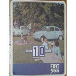 Calendrier Fiat 500 picnic