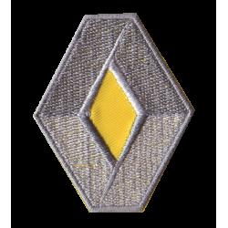 Ecusson Renault gris jaune