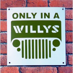 Plaque Emaillée Jeep Willys