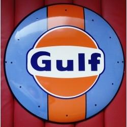 Plaque Emaillée Gulf Petit...