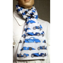 Foulard voitures bleues