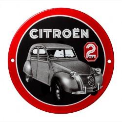 Plaque émaillée Citroën 2 CV