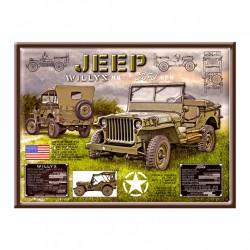 Plaque Tôle Jeep