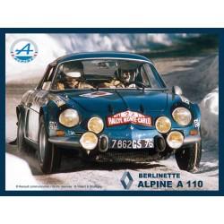 Plaque tôle alpine A110...