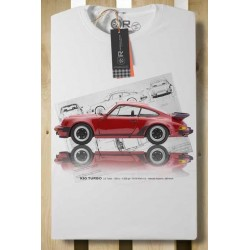 TEE SHIRT BLANC OR TURBO