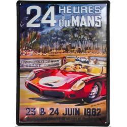 PLAQUE TOLE 24 H LE MANS 1962