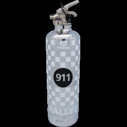 Extincteur 911 chrome noir
