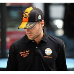 Casquette GP noir orange 69